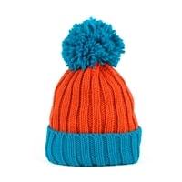 Dvoubarevná zimní čepice oranžová