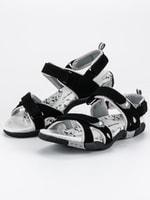 Dámské sandály na suchý zip černé