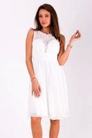 Krátké vypasované šaty bílé