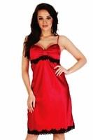 Saténová košilka Kleoree červená