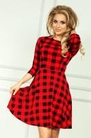 Dámské šaty s kolovou sukní červené