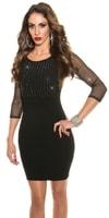 Pouzdrové černé šaty