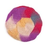 Vlněný baret fialkový