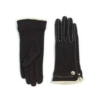 Hnědé rukavičky s kožíškem