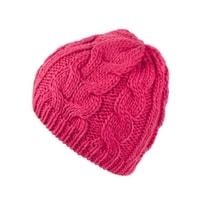 Zimní pletená čepice růžová