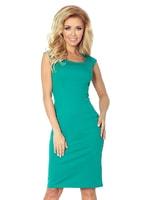 Splývavé zelené šaty bez rukávů