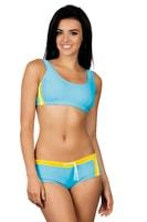 Dámské sportovní plavky Luca světle modré žluté