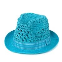 Měkký trilby klobouk tyrkysový