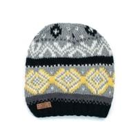 Unisex čepice se skandinávským vzorem šedá