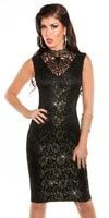 Elegantní černé společenské šaty