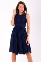 Krátké vypasované šaty modré