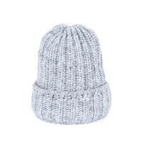 Zimní hrubá čepice šedá