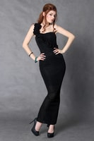 Moderní černé dlouhé šaty střihu mořská panna