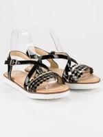 Lakované sandály vices černé