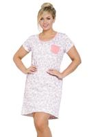 Dámská noční košile Veronika růžová nadměrná velikost