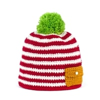 Ručně pletená čepice s kapsou růžová