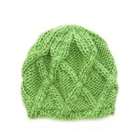 Zimní dámská čepice zelená