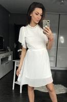 Dámské šaty s širokými rukávy bílé