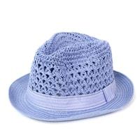 Měkký trilby klobouk světle modrý