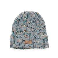 Šedá zimní čepice s melírem
