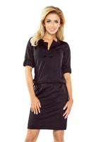 Dámské černé šaty s límečkem Agáta