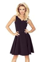 Šaty s kolovou sukní černé