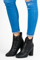 Kotníkové boty na sloupku černé