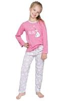 Dívčí pyžamo Oda s medvídkem růžové