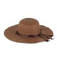 Dámský klobouk s korálky hnědý