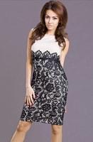 Dvoubarevné krajkové šaty