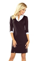 Dámské business šaty s límečkem černé
