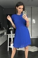 Dámské šaty s širokými rukávy kobaltové