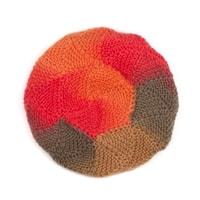 Vlněný baret oranžový
