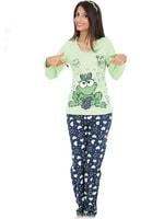 Bavlněné pyžamo Žabka