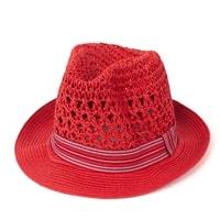 Měkký trilby klobouk červený