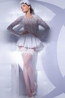 Punčochy Michelle 01 bílé samodržící
