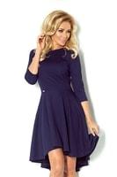 Asymetrické dámské šaty modré