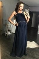 Dámské dlouhé plesové šaty modré