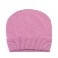 Pletená čepice s příměsí mohéru růžová