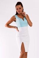 Sexy pouzdrové šaty modrobílé