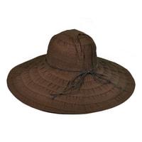 Letní plátěný klobouk hnědý