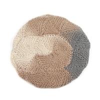 Vlněný baret béžovošedý