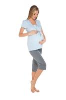Těhotenské a kojící pyžamo Felicita světlé modré