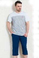 Pánské pyžamo Fabio modré