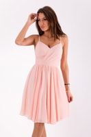 Elegantní šaty na ramínka světle růžové 341c31af16