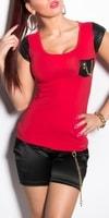 Dámské červené tričko