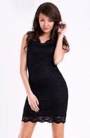 Černé dámské šaty krajkové