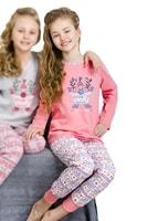 Dívčí pyžamo Elza růžové