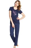 Dámské pyžamo Hearts tmavě modré