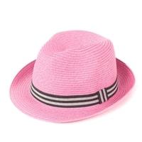Měkký trilby klobouk na léto růžový